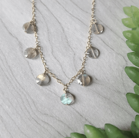 Labradorite Glimmer Necklace - Nest Gifts