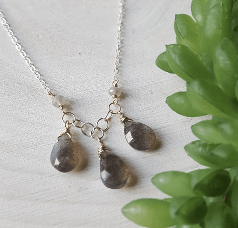 Labradorite Kiss Necklace - Nest Gifts