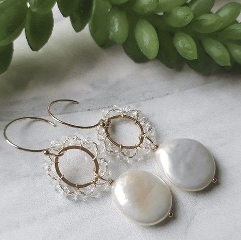 Pearl Crown Earrings - Nest Gifts