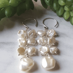 Pearl Samba Silver Earrings - Nest Gifts