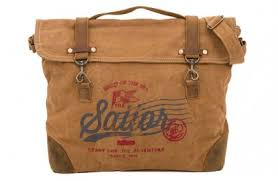 sea style bag with sailor text
