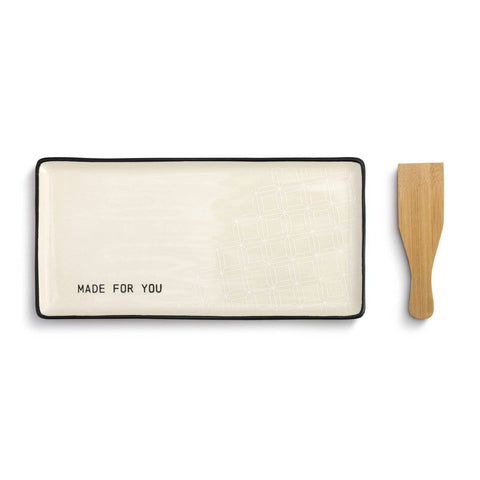Made for You Appetizer Tray with Spatula
