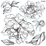 IOD Peonies Stamp by Iron Orchid Designs