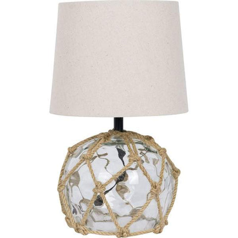 Clear Small Glass Buoy Bedside Lamp