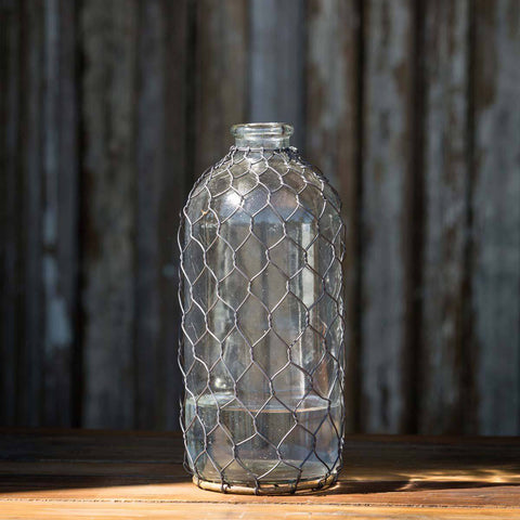 Bottle With Poultry Wire, 10""