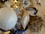 4 Inch Brown Feather Ball Ornament