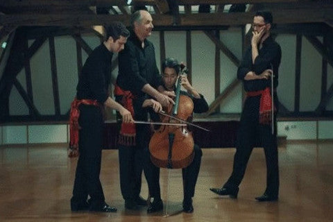 Cello Fever: Watch Four Men Play One Instrument