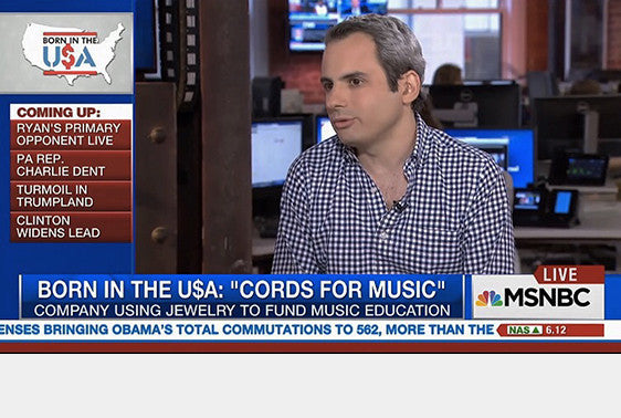 Cords for Music on MSNBC