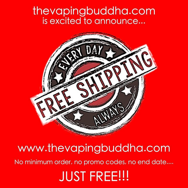 Free shipping online at The Vaping Buddha! | The Vaping Buddha