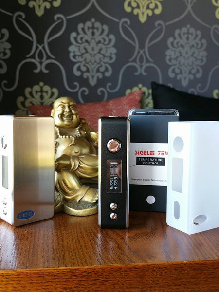 Sigelei 75w temperature control box mod subohm The Vaping Buddha South San Francisco vape shop located in San Mateo County California