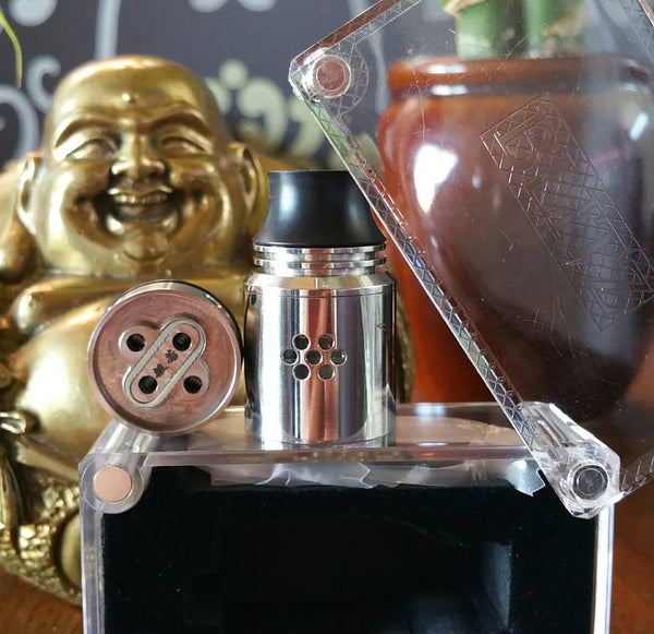 Hannya RDA Blitz Enterprises rebuidlable dripper dripping ejuice eliquid nicotine oil The Vaping Buddha South San Francisco vape shop located in San Mateo County California SFO