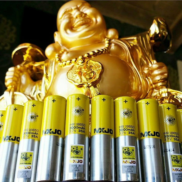 Newise MXJO 18650 battery The Vaping Buddha South San Francisco vape shop located in San Mateo County California SFO