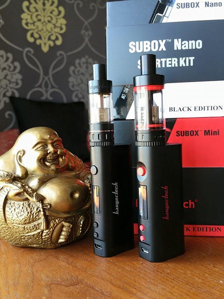 Kanger Subox Nano and Mini kit subohm variable wattage tank ejuice eliquid nicotine oil The Vaping Buddha South San Francisco vape shop located in San Mateo County California SFO