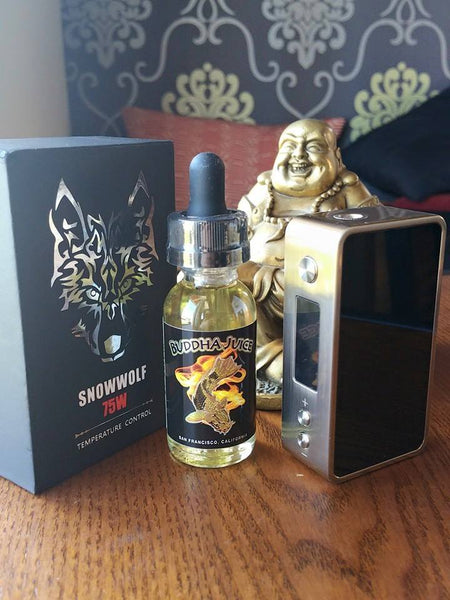 Asmodus Mini Snowwolf 75w variable wattage subohm The Vaping Buddha South San Francisco vape shop located in San Mateo County California SFO