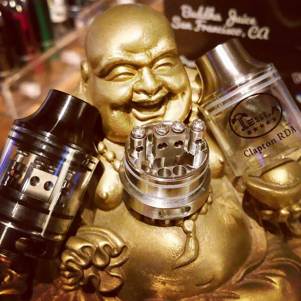 Tesla Clapton rebuildable dripping atomizer The Vaping Buddha South San Francisco vape shop located in San Mateo County California SFO