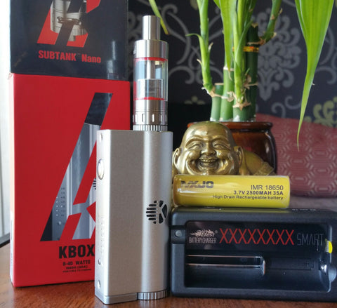 Kanger KBox and Subtank Nano kit WITH 18650 battery and charger