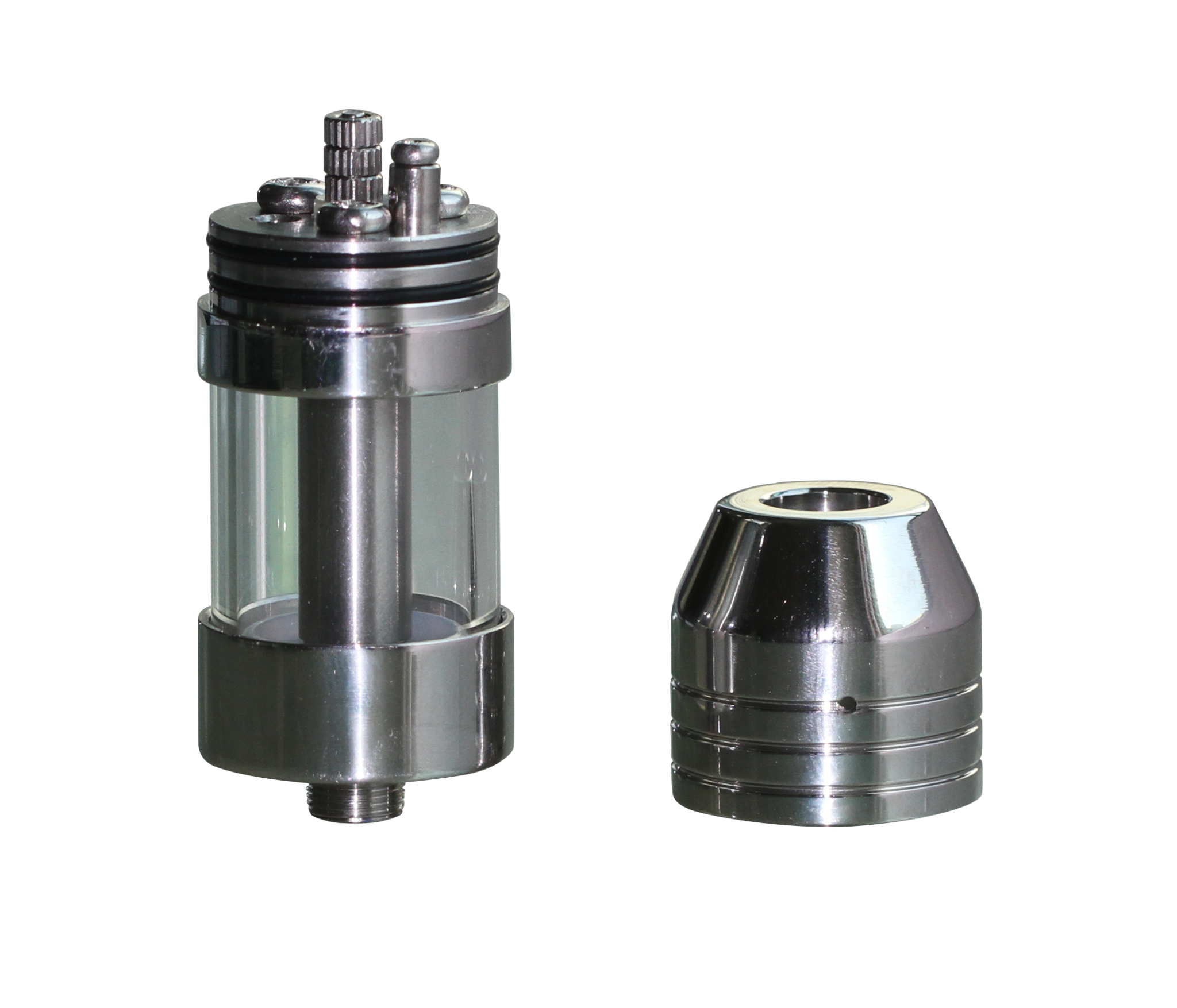 UD AGA-TD rebuildable dual coil atomizer with pyrex glass tank