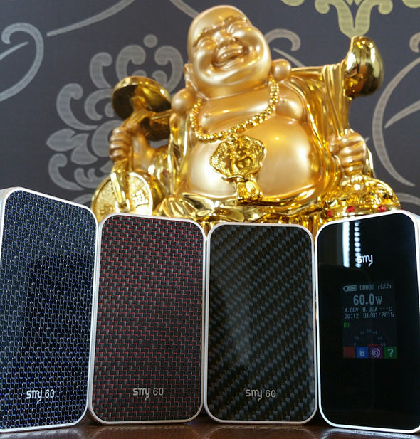 SMY 60 watt 60w boxmod box mod Simeiyue iphone regulated variable wattage voltage eliquid nicotine oil The Vaping Buddha South San Francisco CA vape shop store