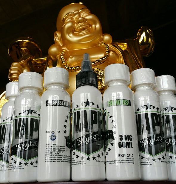 Vape Style Famous ejuice eliquid nicotine oil The Vaping Buddha South San Francisco vape shop located in San Mateo County California SFO