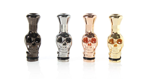 Skull Adapter Drip Tip - Carbon, Chrome, Brass, Gold