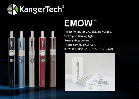 Kanger EMOW Variable Voltage Kit with Battery and Clearomizer, Coils