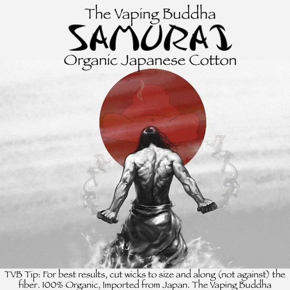 organic Japanese cotton wick dripping dripper vape Samurai Cotton nicotine oil ejuice eliquid The Vaping Buddha South San Francisco CA