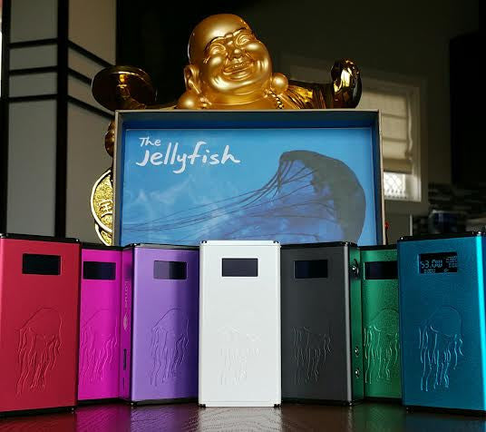 Lotus Jellyfish Boxmod in Grey, White, and Colors