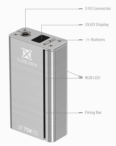 Smok Xcube Mini 2 X Cube FREE SHIPPING Mini II 75 watt 75w boxmod temperature control bluetooth Smoktech The Vaping Buddha South San Francisco SFO Vape Shop