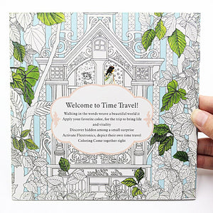 24 Pages Time Travel Coloring Book For Children and Adults
