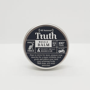 Muscle Balm | Feisty Chilli & Magnesium | 55gm - Truth Cosmetics