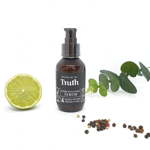 Beard / Style / Shave Serum | Black Pepper + Prickly Pear | 100ml - Truth Cosmetics