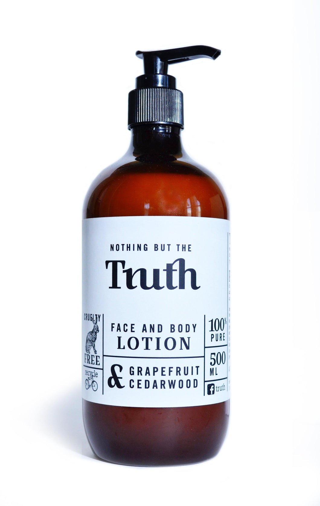 Face & Body Lotion 500ml Grapefruit & Cedarwood - Truth Cosmetics