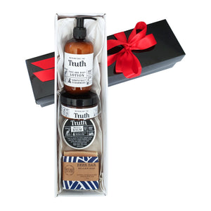 Beer Bar Sports Gift Pack | Feisty Chilli & Magnesium Muscle Balm | Grapefruit & Cedarwood Face & Body Lotion | Bergamot & Cypress Face & Body Scrub | Sweet Nola Beer Bar