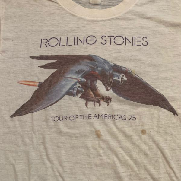Vintage Rolling Stones Tour of The Americas 1975 T-Shirt