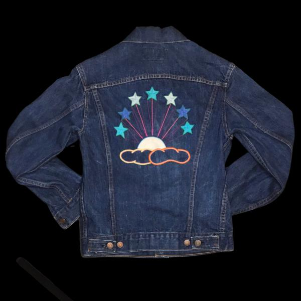 Vintage Big E Levis Clouds & Stars