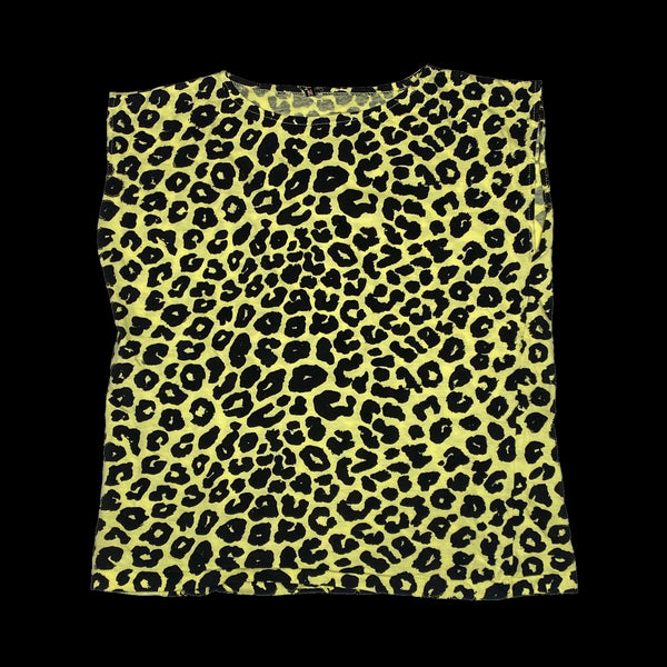 Day Glo Leopard Muscle Tee
