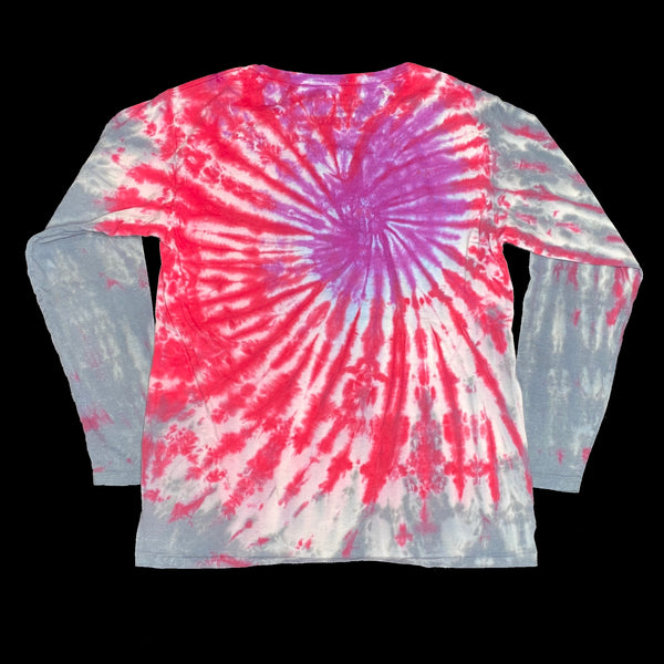 Long Sleeve Tie Dye Crew S Purple Spiral