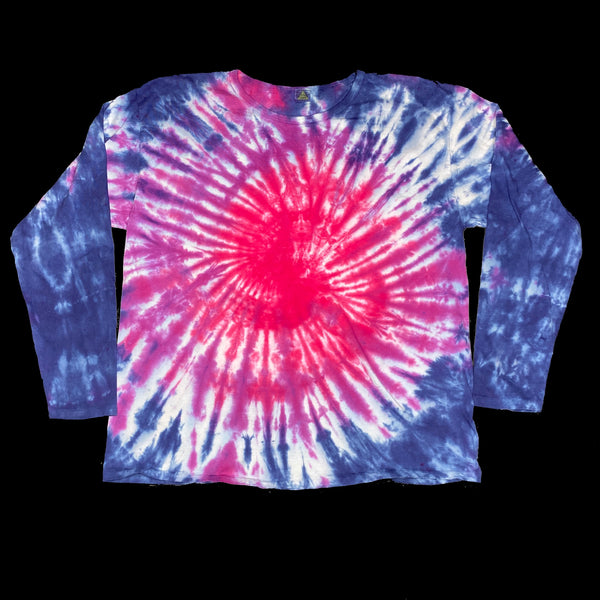 Long Sleeve Tie Dye Crew XL Red Spiral