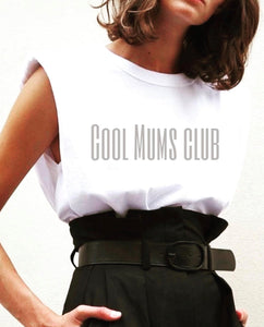 "Camiseta hombreras ""Cool Mums club"""