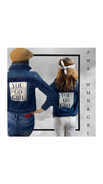 "Chaqueta vaquera Denim ""YOU GO GIRL"""