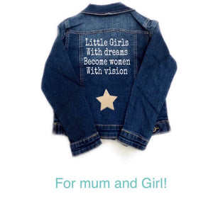 "Cazadora Denim ""Little Girls with Dreams"""