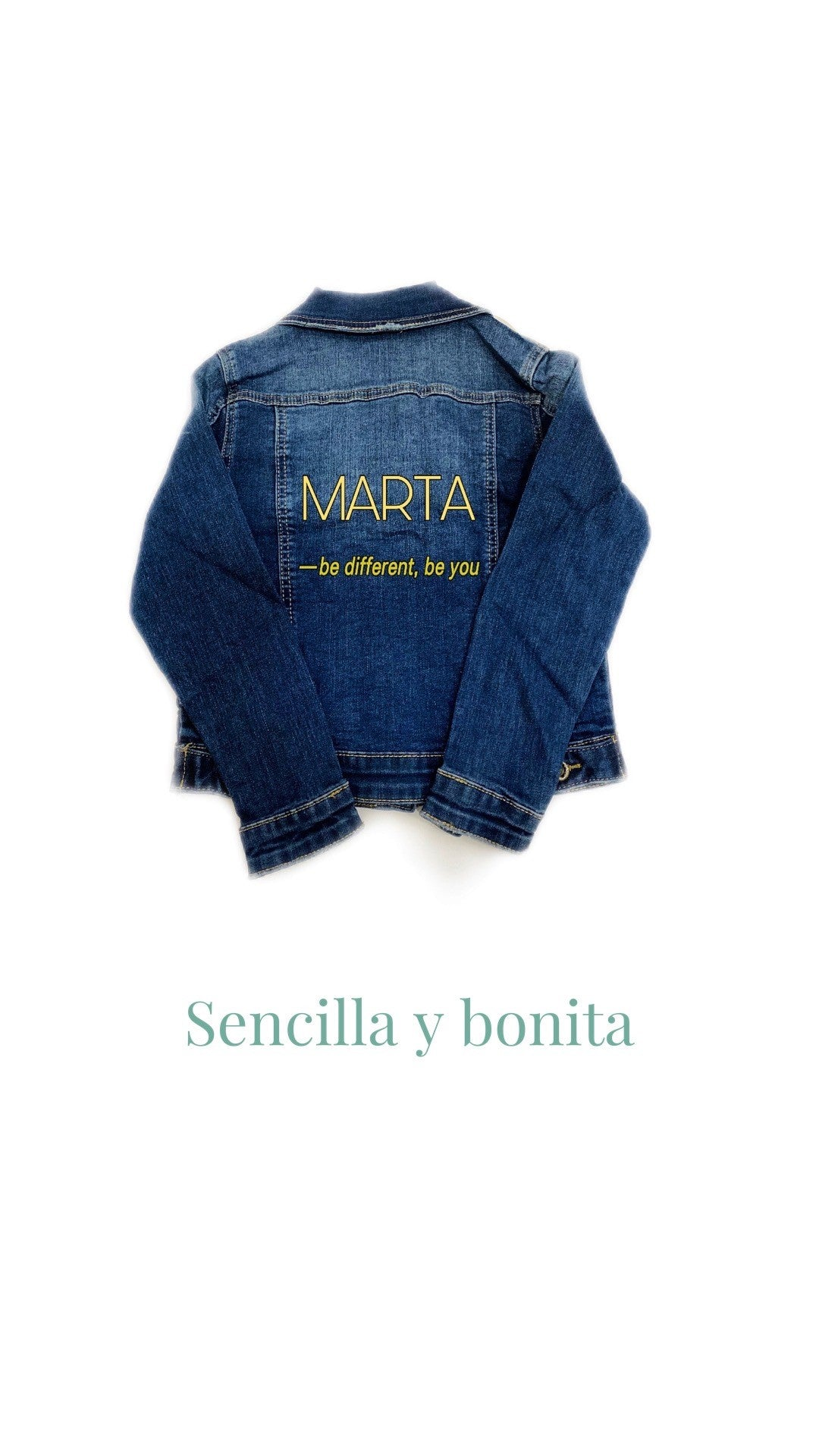 Chaqueta Denim customizable con nombre