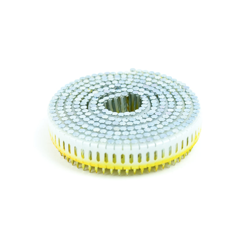 0° PLASTIC COLLATED HARDENED COIL NAILS - FLAT HEAD