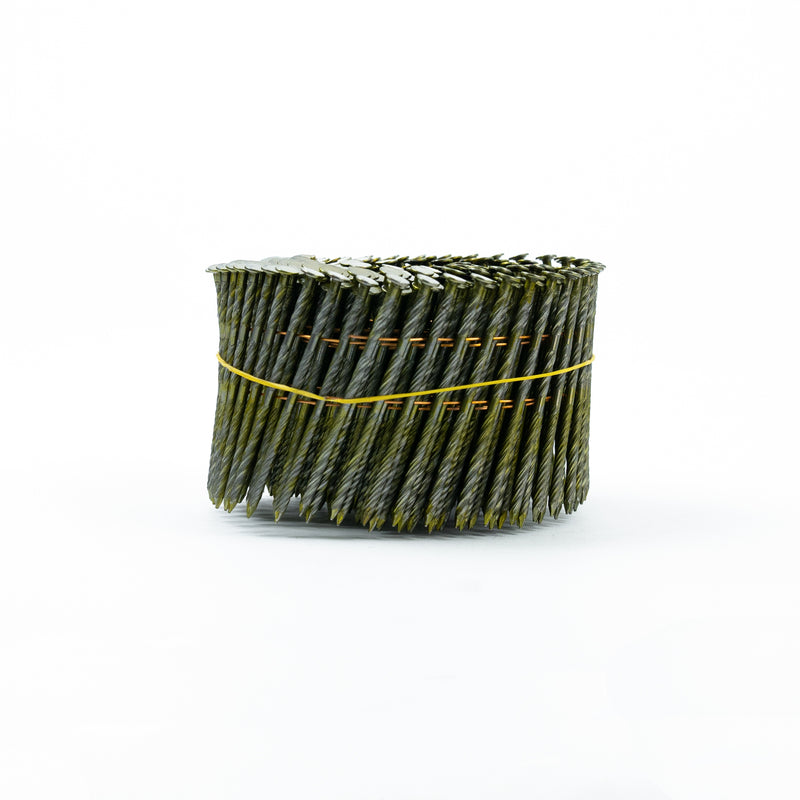 15° WIRE COLLATED COIL NAILS - SCREW SHANK