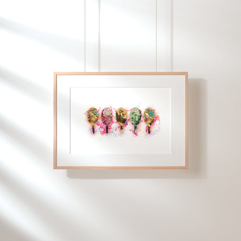 Five Ice Lollies Fine Art Print