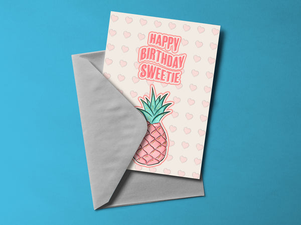 Happy Birthday Sweetie Greeting Card