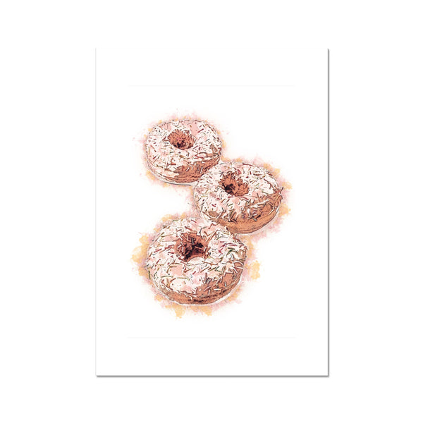 Three Donuts Fine Art Print