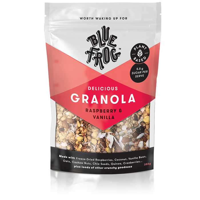 Blue Frog Raspberry and Vanilla Delicious Granola 350g