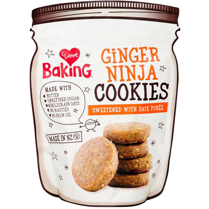 I LOVE BAKING GINGER NINJA COOKIES 185G