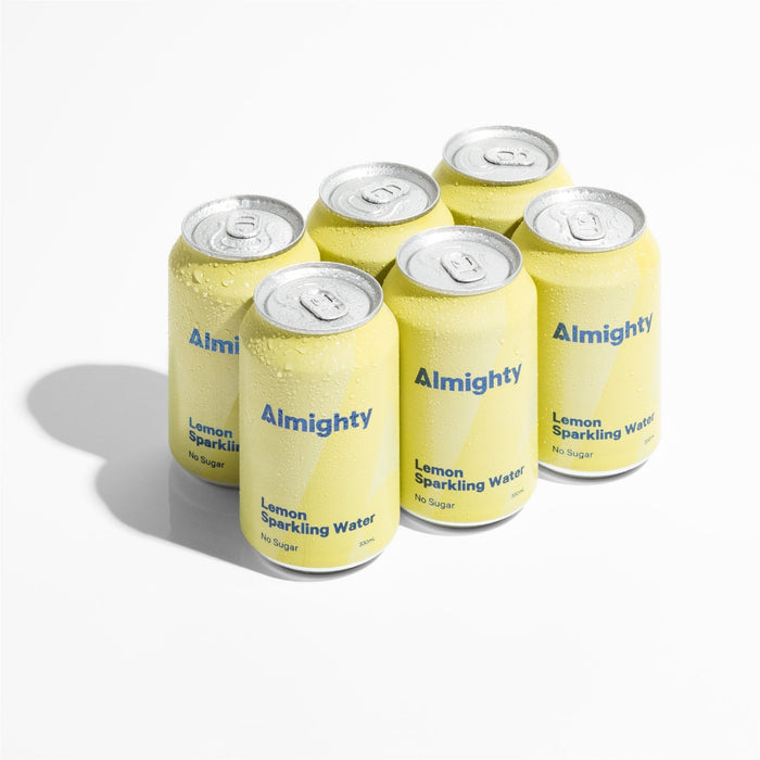 ALMIGHTY LEMON SPARKLING WATER 6PACK
